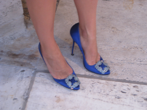 manolo blahnik satin shoes