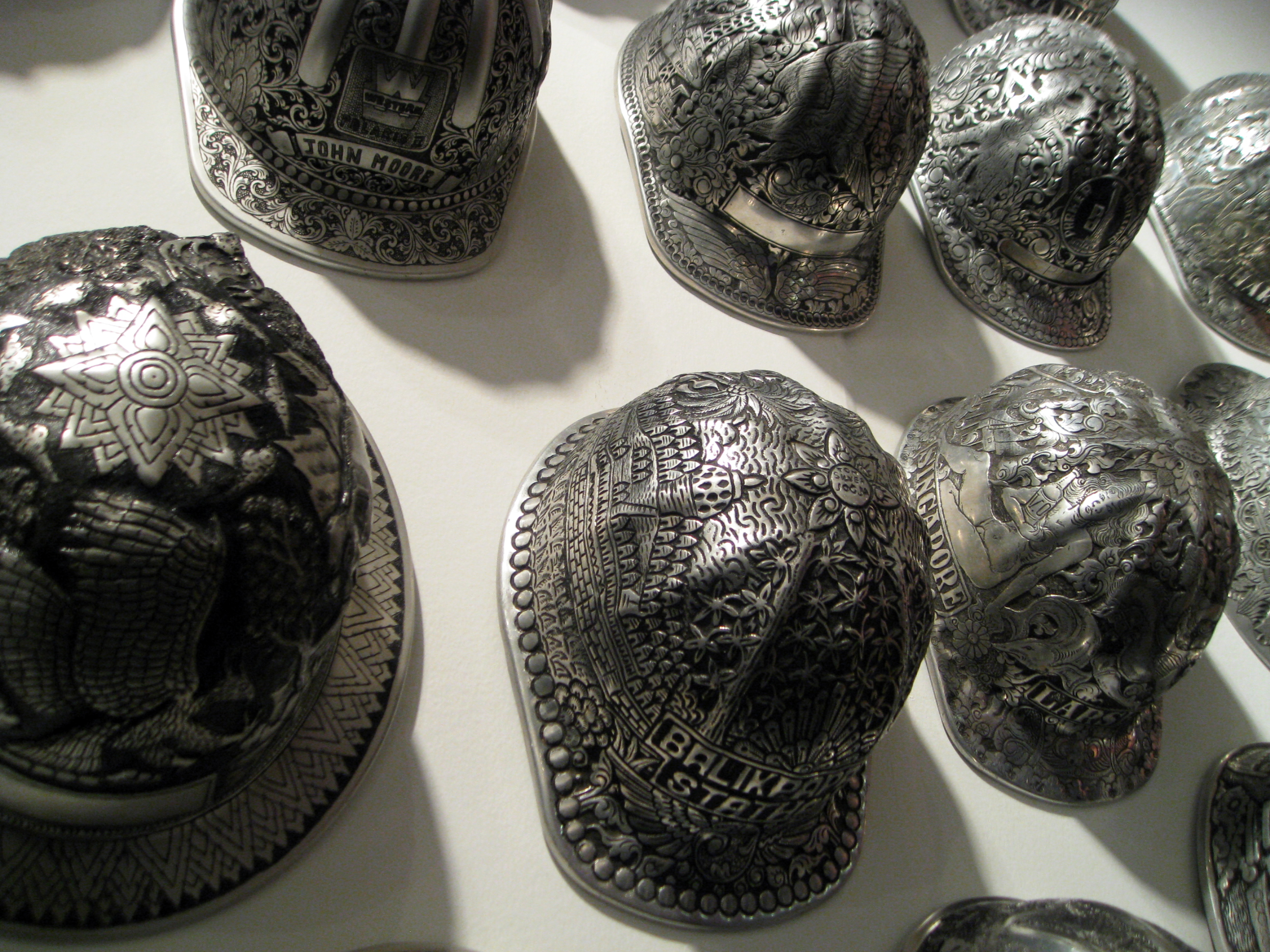 Ricco Maresca Gallery Displays 26 Vintage Hard Hats  6c6510092c0