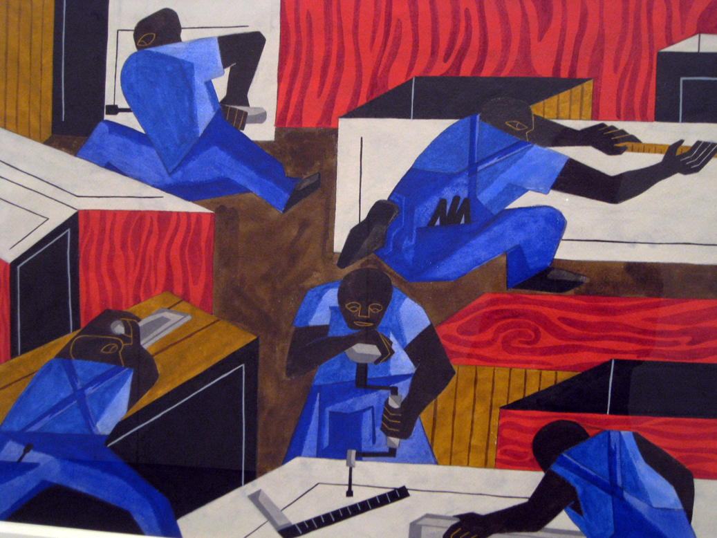Jacob lawrence, the libraries are appreciated, 1943