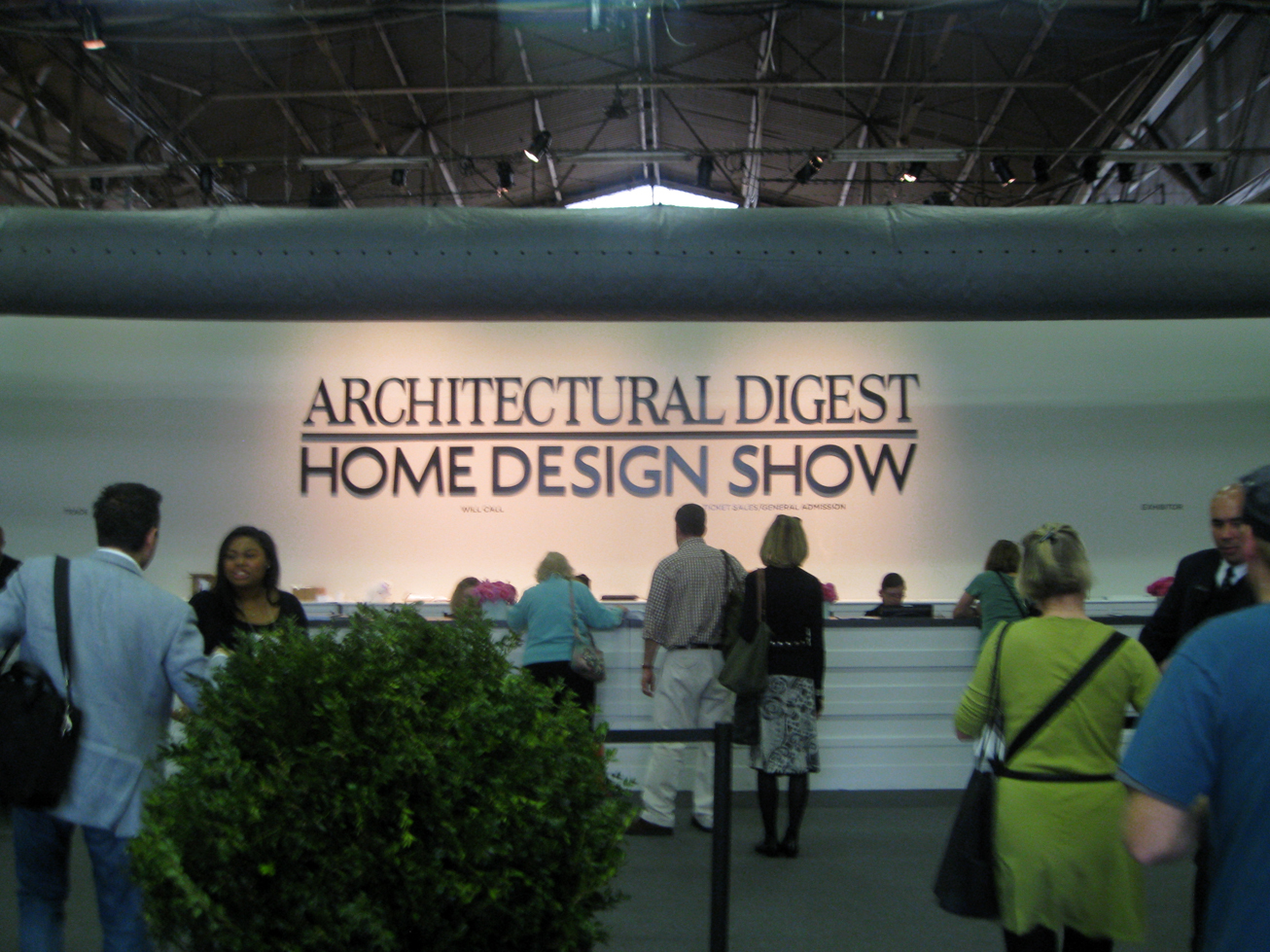 Architectural digest home show features artisan crafted for Architectural digest show