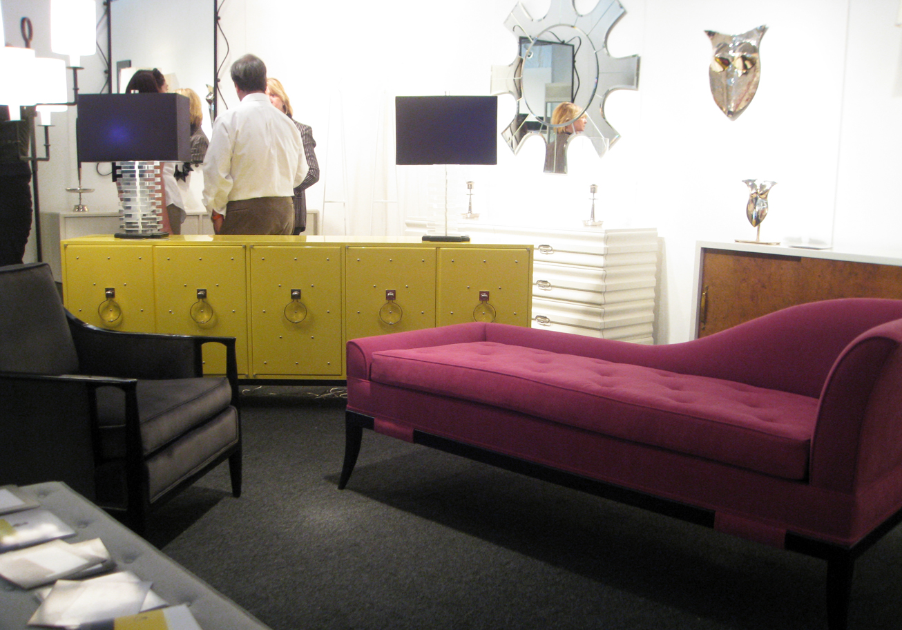 From Left Parzinger Original Custom Five Door Studded Cabinet And Chaise Lounge At Palumbo Anderssen
