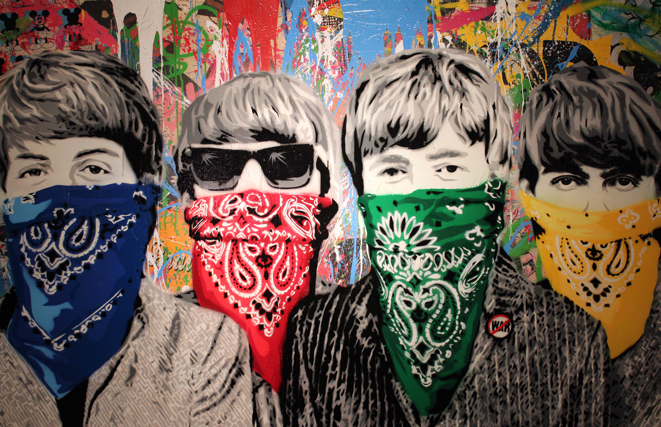 Mr brainwash stages exhibit in miami arts observer for Mural painted by street artist mr brainwash