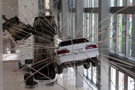 Ford Tauruses are Suspended Mid-Air at Seattle Art Museum