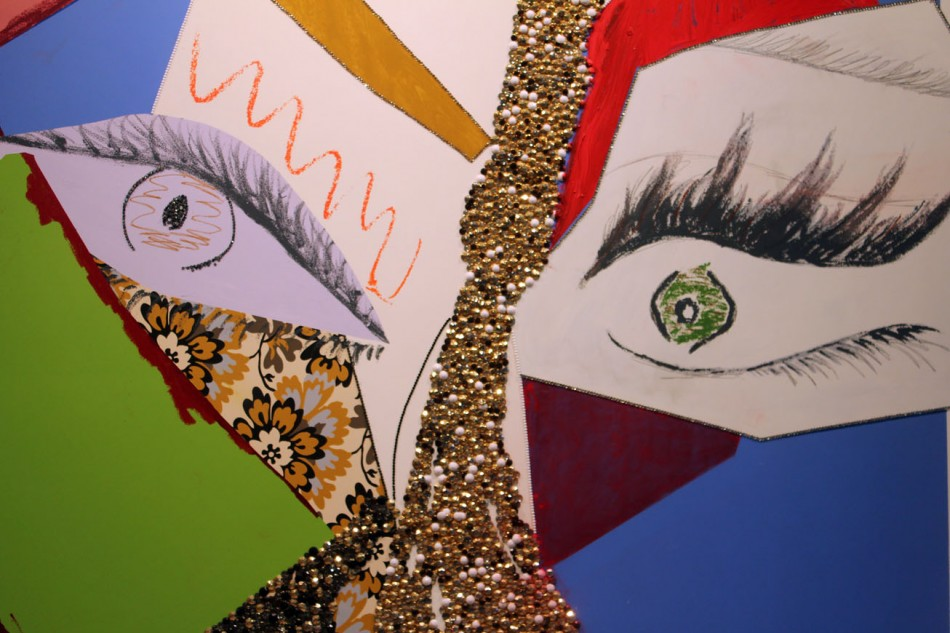 Abstract Maquillage: Mickalene Thomas at Lehmann Maupin